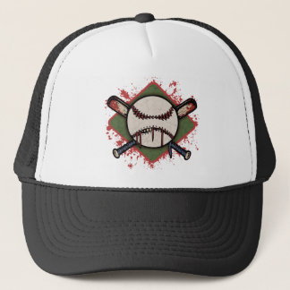 Evil Ball & Cross Bats Trucker Hat