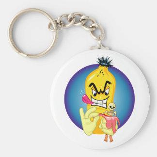 Evil Banana Peel Key Ring