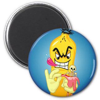 Evil Banana Peel Magnet