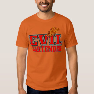 Evil Bartender Drinking Tee Shirts