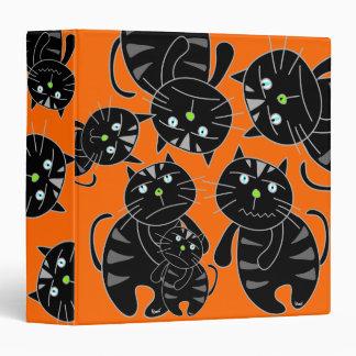 Evil Black Cat Halloween Binder