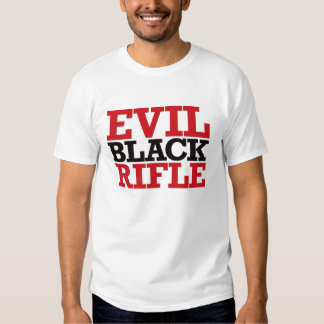 Evil Black Rifle - Red and Black T-shirts