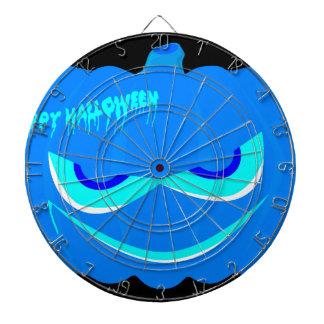 Evil Blue Halloween Pumpkin Dartboard With Darts