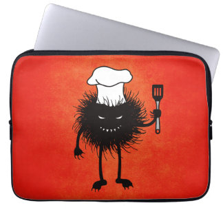Evil Bug Chef Loves To Cook Laptop Computer Sleeves