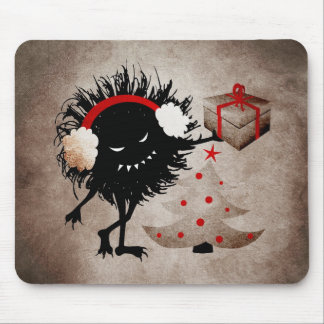 Evil Bug Gives Christmas Present Mouse Pad