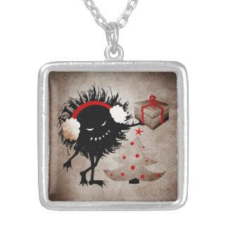 Evil Bug Gives Christmas Present Pendant