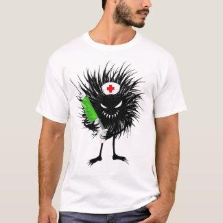 Evil Bug Nurse Holding A Syringe T-Shirt