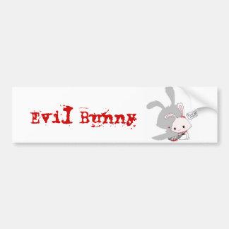 Evil Bunny Bumper Sticker