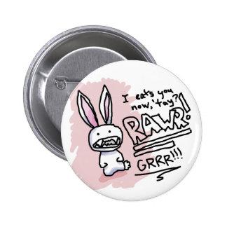 Evil Bunny Chomp Pinback Buttons