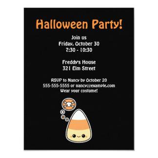 Evil Candy Corn Halloween Party 11 Cm X 14 Cm Invitation Card