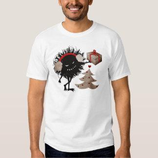 Evil Character Gives Christmas Present Mens Dark T Shirts