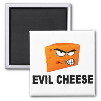 Evil Cheese Square Magnet