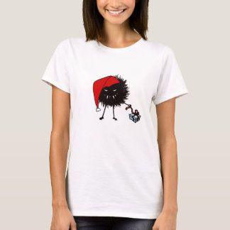 Evil Christmas Bug Opening Present T-Shirt