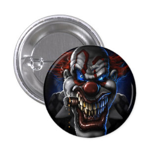 EVIL CLOWN 3 CM ROUND BADGE