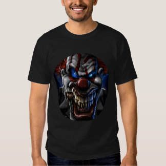 Evil Clown and Cigar Circle Closeup Shirts