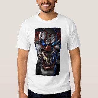 Evil Clown and Cigar Closeup Tee Shirt
