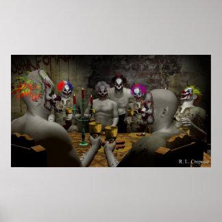 Evil Clown Banquet Poster