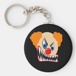 Evil Clown Basic Round Button Key Ring