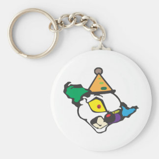 Evil Clown Basic Round Button Key Ring