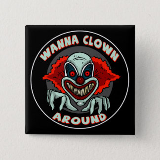 Evil Clown Biker T shirts Gifts 15 Cm Square Badge