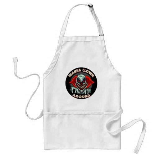 Evil Clown Biker T shirts Gifts Apron