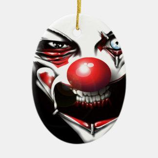 Evil Clown Ceramic Oval Decoration