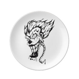 Evil clown Decorative Porcelain Plate
