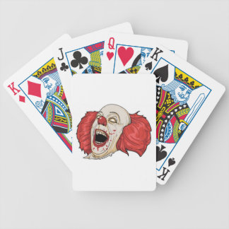 Evil clown design bicycle card decks
