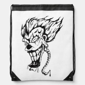 Evil clown Drawstring Backpack