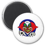 Evil Clown Face Fridge Magnets