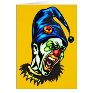 Evil Clown From Hell Greeting Card
