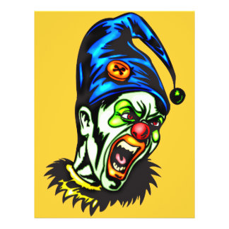 Evil Clown From Hell 21.5 Cm X 28 Cm Flyer
