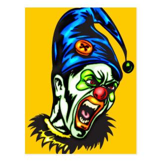 Evil Clown From Hell Postcard