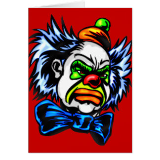 Evil Clown Murders Stationery Note Card