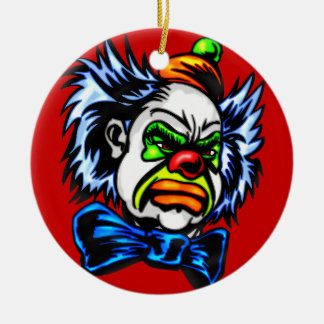 Evil Clown Murders Double-Sided Ceramic Round Christmas Ornament