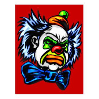 Evil Clown Murders Postcard