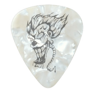 Evil clown pear celluloid guitar pic pearl celluloid guitar pick