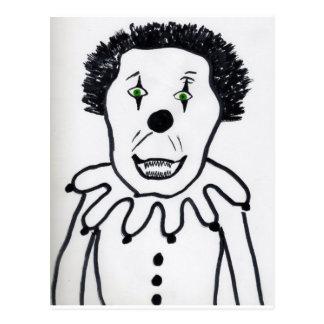 Evil Clown Postcard