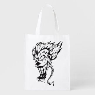 Evil clown Reusable Bag
