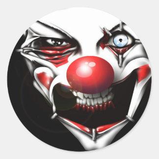 Evil Clown Round Sticker
