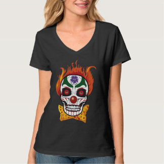 Evil Clown Skull Demon T-shirt Top Gift Idea