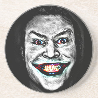 Evil Clown Smile Beverage Coaster