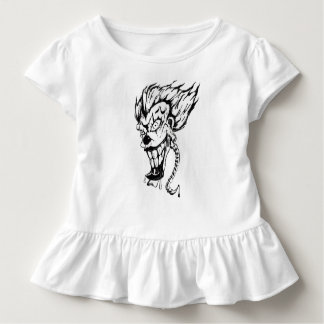 Evil clown Toddler Ruffle Tee
