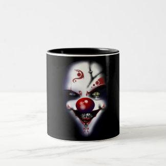 Evil Clown Two-Tone Coffee Mug