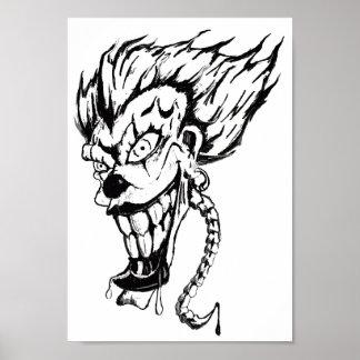Evil clown Value Poster Paper (Matte)