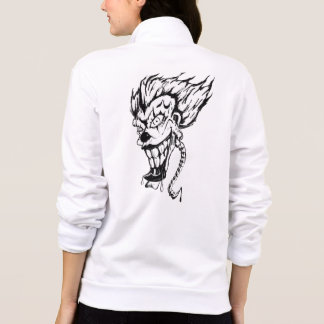 Evil clown Women's Fleece Zip Jogger