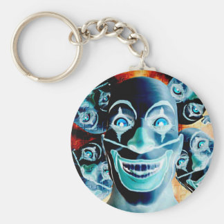 Evil Clowns Basic Round Button Key Ring