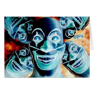 Evil Clowns Greeting Card