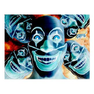 Evil Clowns Postcard
