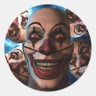 Evil Clowns Round Sticker